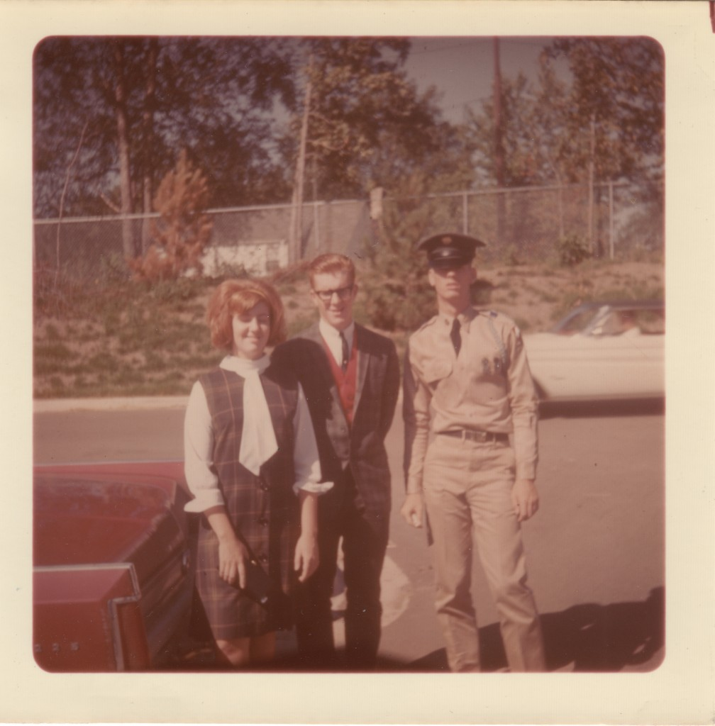 Mike heading to Army Reserve Basic Training 1964