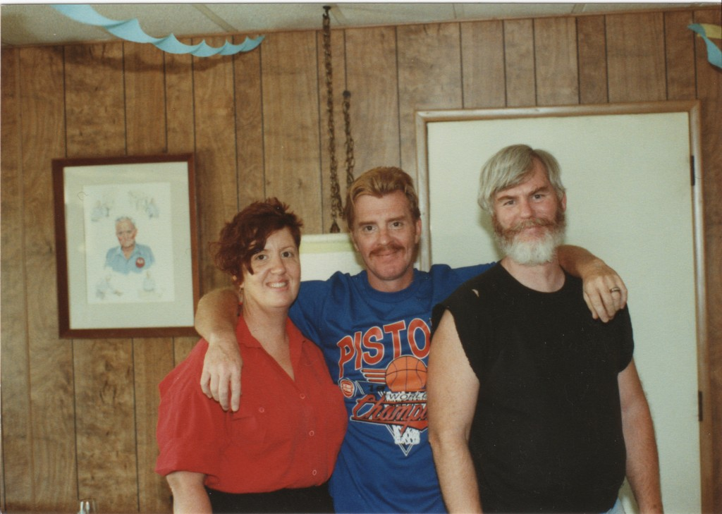 Mike, Chuck and I in 1990