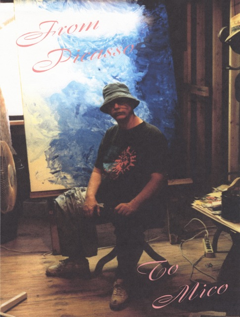 Mike at work in his studio